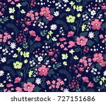 trendy seamless floral pattern... | Shutterstock .eps vector #727151686