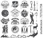 set of rock climbing club... | Shutterstock .eps vector #727151758