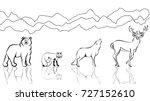 Wild Forest Animals Artistic...