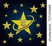 smiling stars in the sky | Shutterstock . vector #727154668