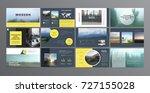 original presentation templates ... | Shutterstock .eps vector #727155028