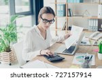 successful business woman... | Shutterstock . vector #727157914