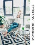 weekends finally  relaxed... | Shutterstock . vector #727158118