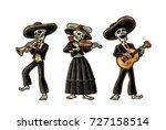 day of the dead  dia de los... | Shutterstock .eps vector #727158514