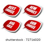 vector sale stickers set.... | Shutterstock .eps vector #72716020