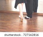 ballroom dance couple of... | Shutterstock . vector #727162816
