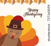 happy thanksgiving design | Shutterstock .eps vector #727163059