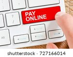 pay online   computer white... | Shutterstock . vector #727166014