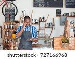 young african entrepreneur... | Shutterstock . vector #727166968