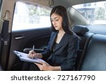 asian woman working with... | Shutterstock . vector #727167790