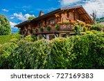 beautiful village neuvecelle... | Shutterstock . vector #727169383