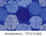 blue woodblock printed seamless ... | Shutterstock .eps vector #727171183