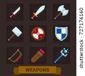 weapons for games. cartoon... | Shutterstock .eps vector #727176160