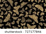 vintage seamless pattern with... | Shutterstock .eps vector #727177846