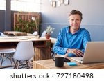 portrait of a smiling... | Shutterstock . vector #727180498