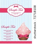 pink cupcake invitation | Shutterstock .eps vector #72718108