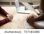 close up view of multiethnic hr ... | Shutterstock . vector #727181080