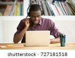 smiling african american office ... | Shutterstock . vector #727181518