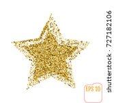 golden star vector banner on... | Shutterstock .eps vector #727182106