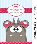 cute little girl monster | Shutterstock .eps vector #72718441