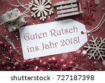 christmas decoration  label... | Shutterstock . vector #727187398