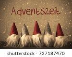 gnomes  snowflakes  adventszeit ...   Shutterstock . vector #727187470