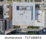 top down view of a rooftop in... | Shutterstock . vector #727188853