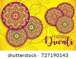 diwali festival greeting card... | Shutterstock .eps vector #727190143