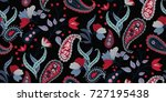 seamless floral pattern in... | Shutterstock .eps vector #727195438