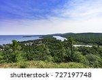 looking over copper harbor | Shutterstock . vector #727197748