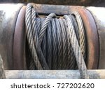 heavy  winch cable machine part ... | Shutterstock . vector #727202620