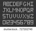 set of  white knitted alphabet... | Shutterstock .eps vector #727202740