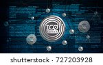 blockchain technology  ico... | Shutterstock .eps vector #727203928
