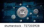 blockchain technology  ico... | Shutterstock .eps vector #727203928