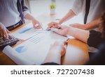 brainstorming business working... | Shutterstock . vector #727207438