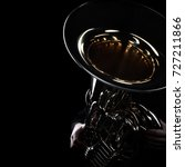 Tuba brass instrument. wind...