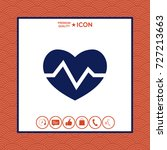 heart medical icon | Shutterstock .eps vector #727213663