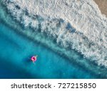 aerial view of young woman... | Shutterstock . vector #727215850
