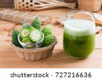 herbal juice of  bitter gourd ... | Shutterstock . vector #727216636