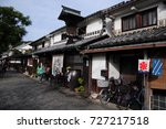 shopping street in kurashiki ... | Shutterstock . vector #727217518