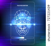 face recognition abstract tech... | Shutterstock .eps vector #727221439
