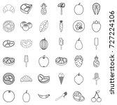 breakfast icons set. outline... | Shutterstock .eps vector #727224106