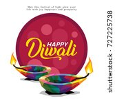 happy diwali | Shutterstock .eps vector #727225738