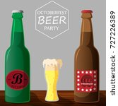 october fest beer party vector | Shutterstock .eps vector #727226389