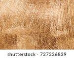 scratches on a metallic gold... | Shutterstock . vector #727226839