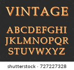 vector of vintage colorful font ... | Shutterstock .eps vector #727227328