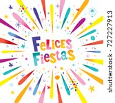 felices fiestas greeting card... | Shutterstock .eps vector #727227913