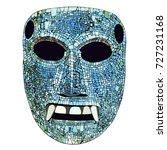 ancient mexican mixtec mosaic... | Shutterstock .eps vector #727231168