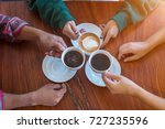 asia group of friends meeting... | Shutterstock . vector #727235596