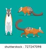 cute numbat cartoon vector...   Shutterstock .eps vector #727247098